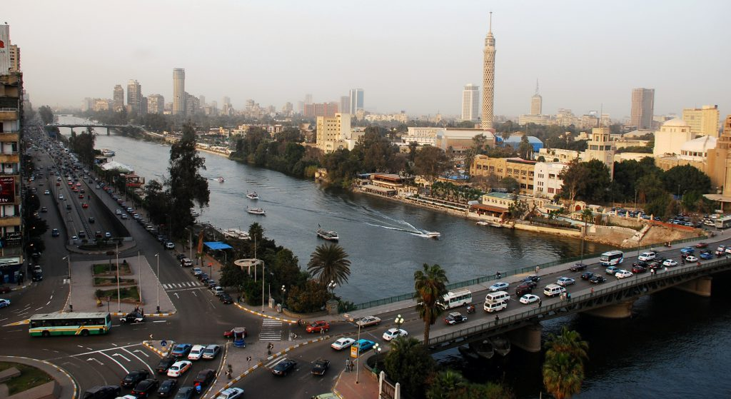 top view of the city of Cairo