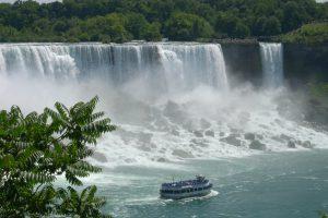 waterfall making a mist